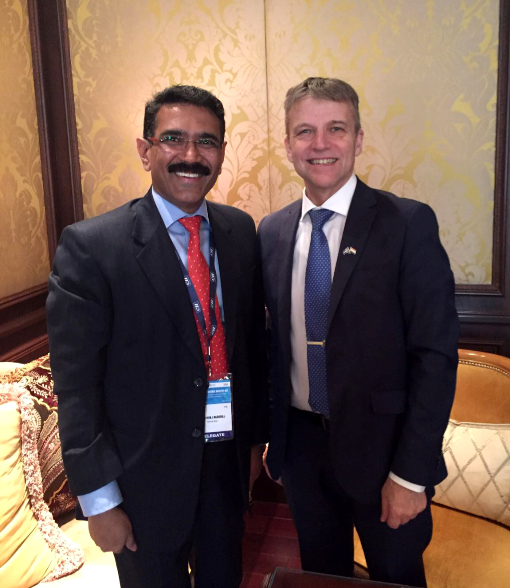 Mr Hardar Nabhiraj Ananthraj (Sepson India Pvt Ltd) and State Secretary for the Swedish Ministry of Defence Mr Jan Salestrand