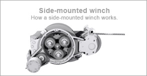 How a side mounted winch works